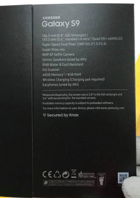 Galaxy S9 Kutu