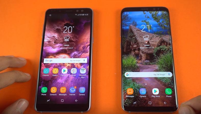 Samsung Galaxy A8 2018 ve Galaxy S8 hız testinde kapıştı!