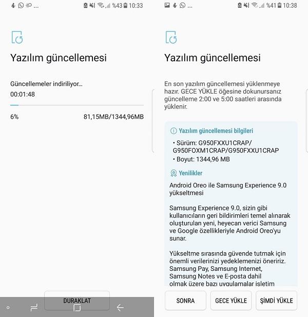 Galaxy S8 Android Oreo