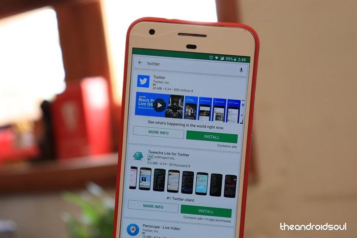 Google Play Store arayüzü
