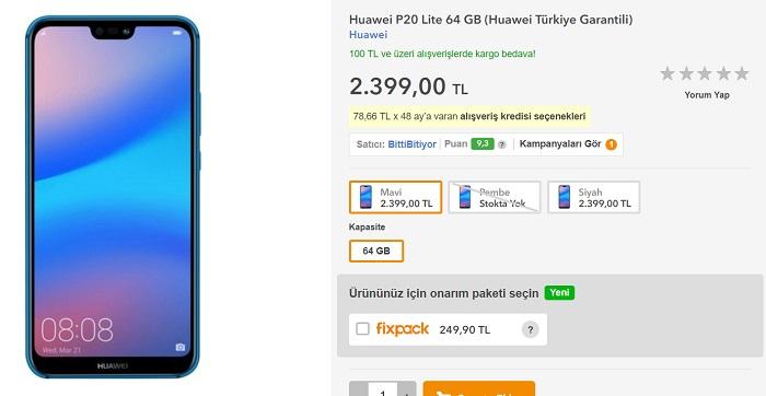 Huawei P20 Lite Türkiye