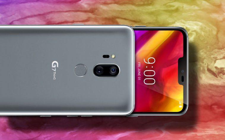 LG G7 ThinQ siyah rengi çok güzel görünüyor