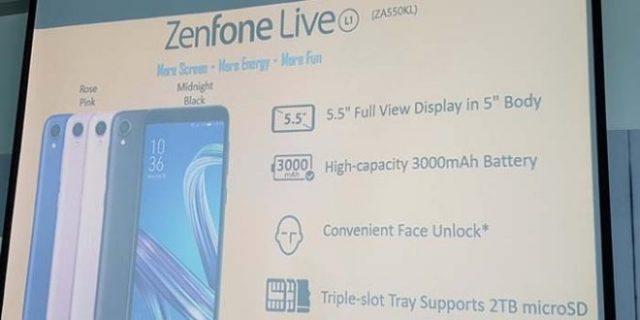 Düşük fiyatlı Asus Zenfone Live L1 Android Go Edition tanıtıldı!