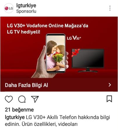 LG V30 Plus Televizyon