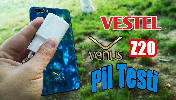 Vestel Venus Z20 pil testi! Bakalım Venus Z20 sınıfı geçebildi mi?