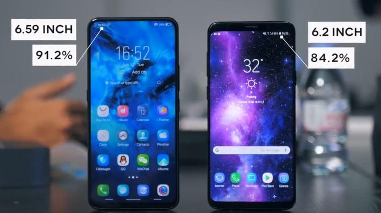 Vivo Nex ve Galaxy S9 Plus