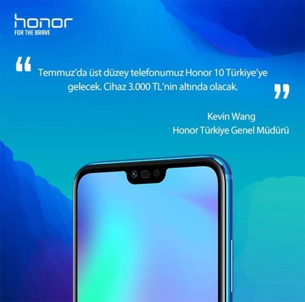 Honor 10 Türkiye fiyatı