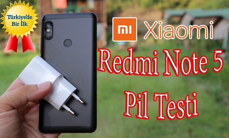 Merakla beklenen Xiaomi Redmi Note 5 pil testi ile sizlerleyiz