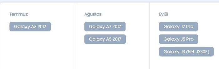 Galaxy A 2017 serisi