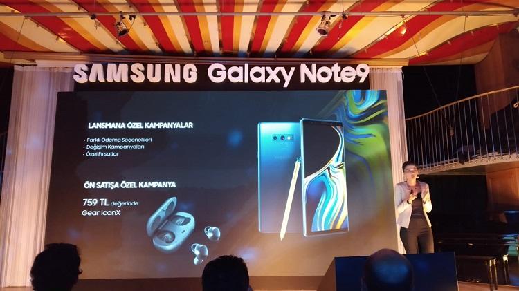 Galaxy Note 9 Türkiye hediyesi