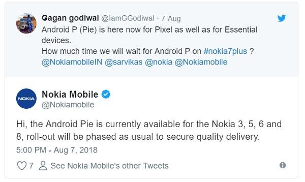 Nokia 3, 5, 6 ve Nokia 8 için Android 9 Pie