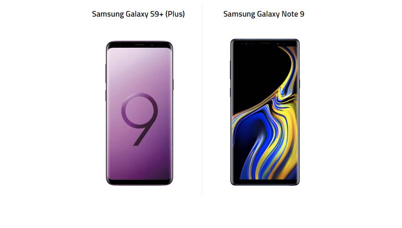 Samsung Galaxy S9+ ve Galaxy Note 9 Karşı Karşıya!
