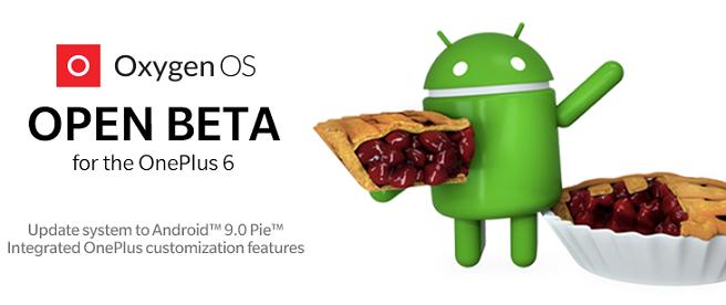 OnePlus 6 Android 9 Pie beta