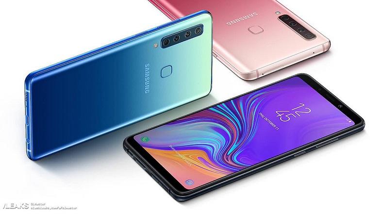 Dört arka kameralı Galaxy A9 2018 resmi görüntüleri ve kamera detayları!