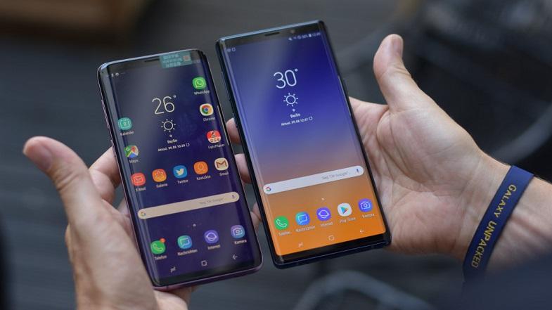 Galaxy S9 Plus ve Galaxy Note 9 Android 9.0 ekran görüntüleri