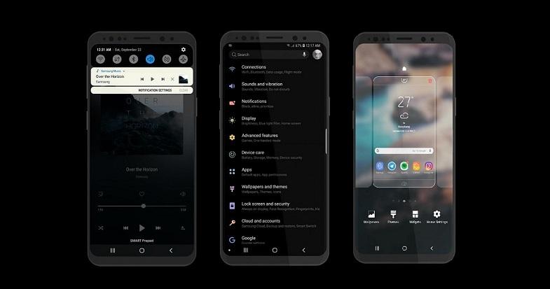 Galaxy S9 ve Galaxy S8 için Android Pie karanlık temayı şimdi deneyin