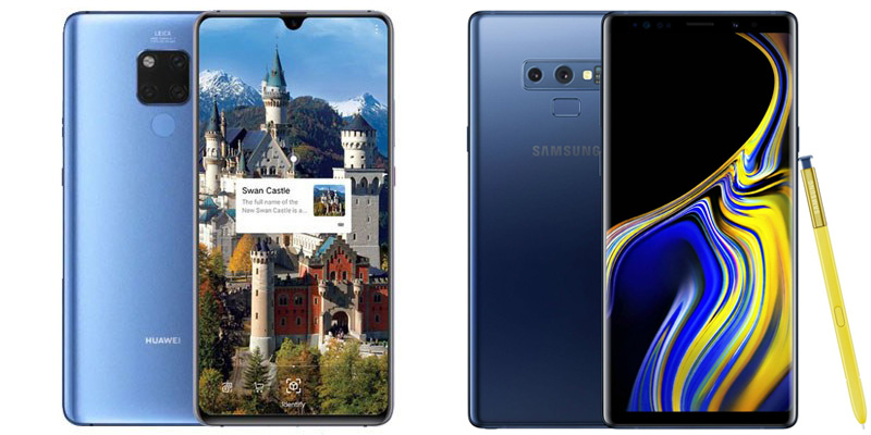 Huawei Mate 20 X ve Samsung Galaxy Note 9