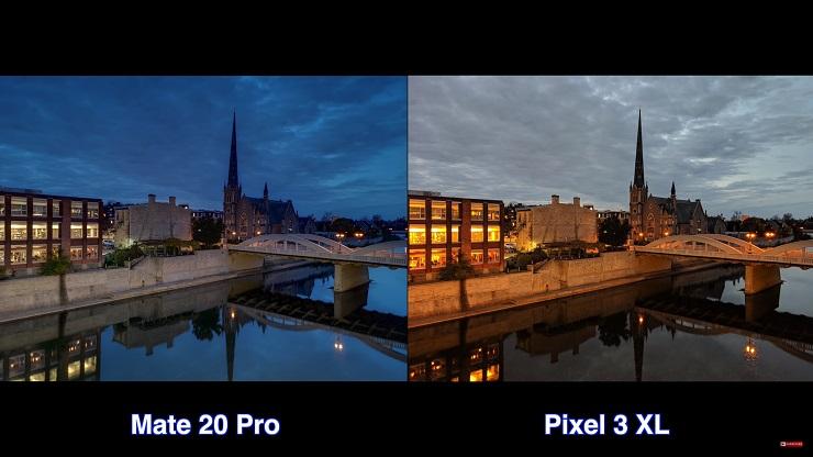 Google Pixel 3 XL ve Huawei Mate 20 Pro gece karşılaştırma!