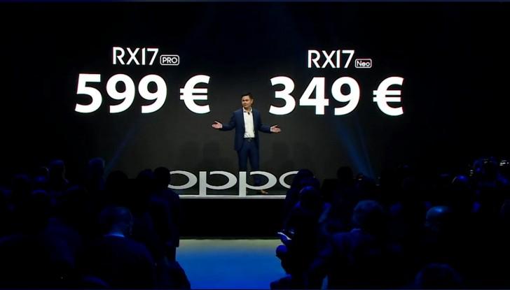 Oppo RX17 Pro ve RX17 Neo
