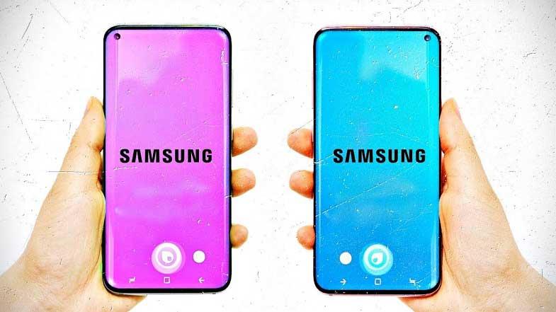 Samsung Galaxy S10'un ilk kez canlı görüntüsü sızdırıldı