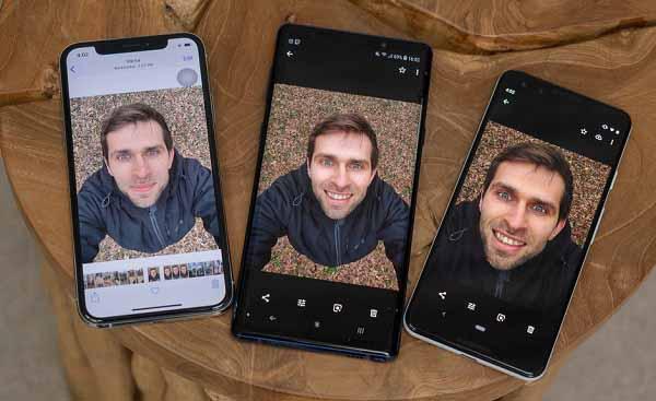 Pixel 3 Galaxy Note 9 iPhone Xs ön kamera test!