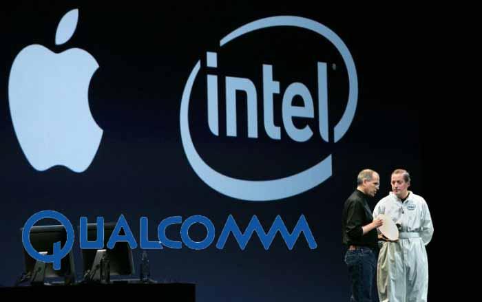 Apple Qualcomm ve Intel