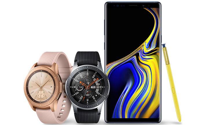 Galaxy Note 9 ve Galaxy Watch için güncellemeler yayınlandı
