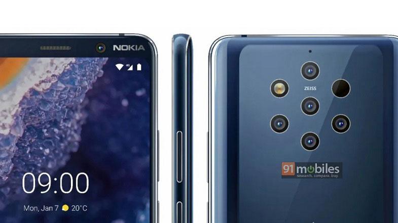 Nokia 9 PureView resmi görüntüsü karşınızda! Beş kamera ve dahası…