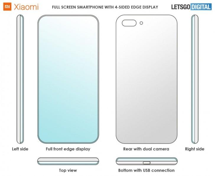 Xiaomi dört kenarı kavisli telefon