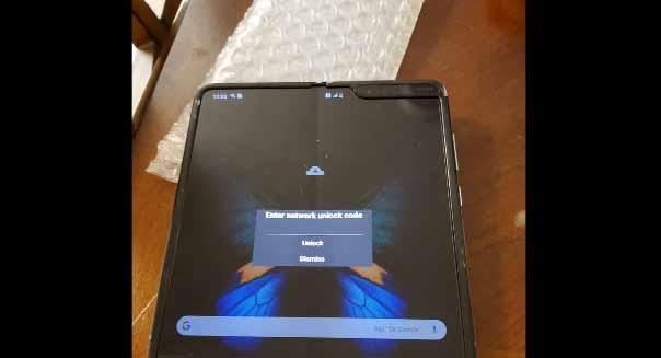 Samsung Galaxy Fold çalışırken görüntülendi! Ortadaki oluk da ne?