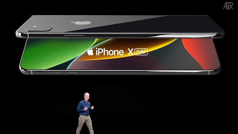 Apple'ın katlanabilir telefonu iPhone X Fold konsepti mükemmel görünüyor