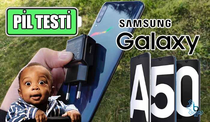 Samsung Galaxy A50 pil testi! Siz istersiniz de biz yapmaz mıyız?