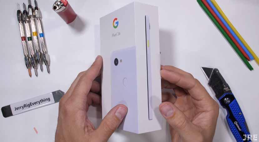 Plastik kralı Google Pixel 3a sağlamlık testinde!