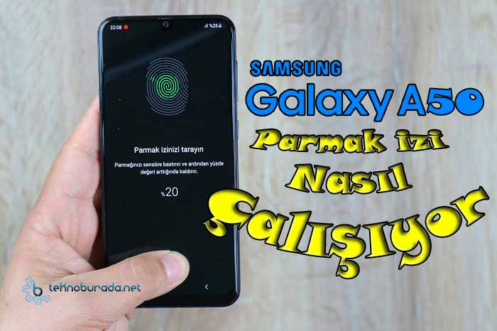 Güncelleme sonrası Samsung Galaxy A50 parmak izi testi