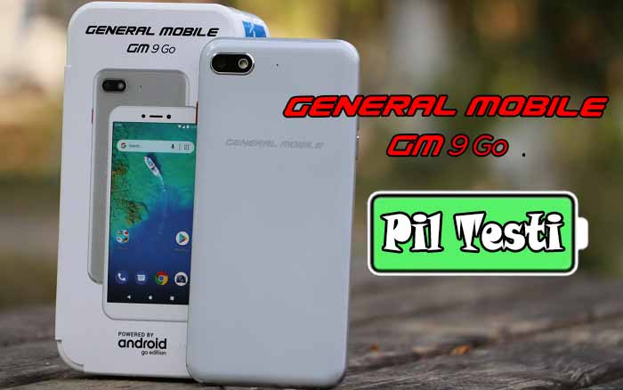 General Mobile GM 9 Go pil testi!
