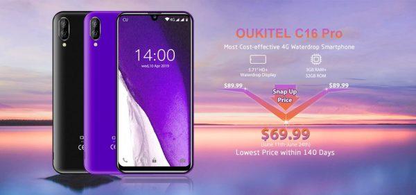 Şaka gibi ama değil 69 dolarlık OUKITEL C16 Pro satışa sunuldu!