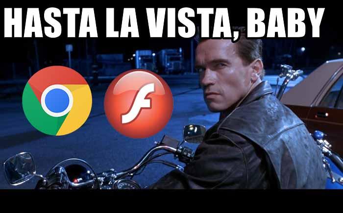 Google Chrome Flash Player için Hasta La Vista Baby dedi