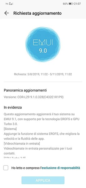 Honor Play EMUI 9.1