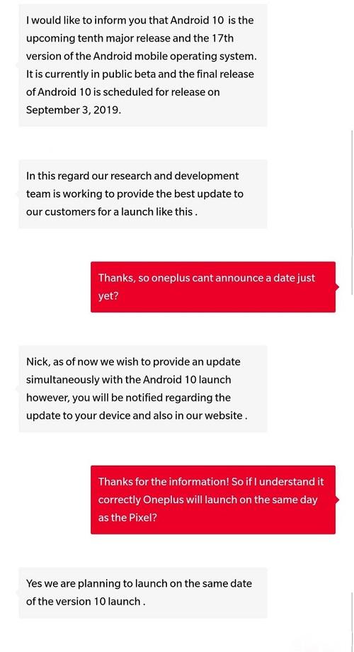 OnePlus Android10 güncellemesi için sayılı günler kalmış olabilir