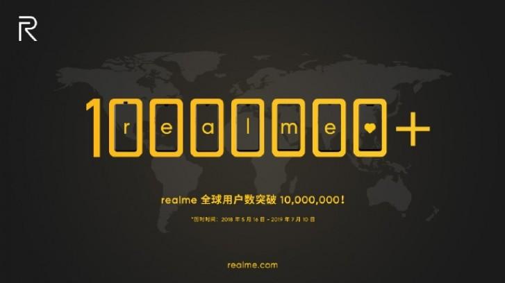 Realme 10 milyon
