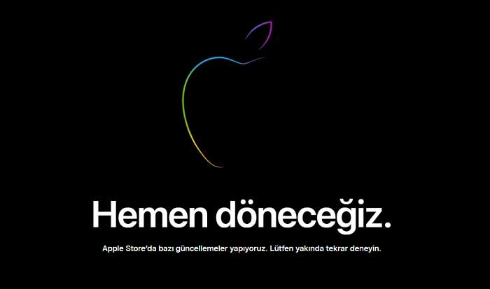 Apple website neden kapandı? Neyin peşindesin Apple Bey?
