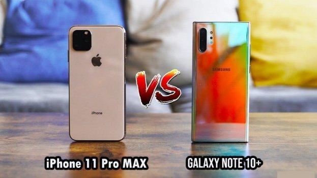 Galaxy Note 10 Plus iPhone 11 Pro Max karşılaştırma