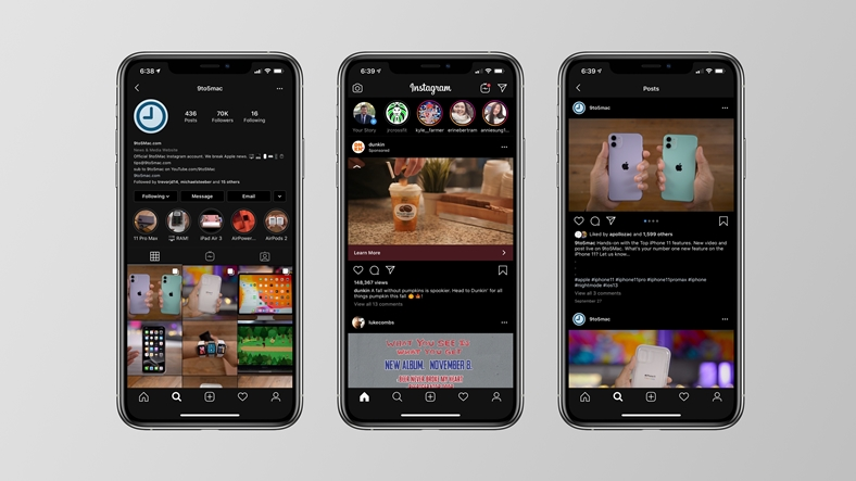 Instagram iOS platformunda karalara büründü!