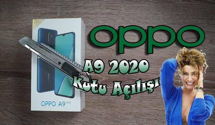 Sıla'nın telefonu OPPO A9 2020 kutusundan çıkıyor