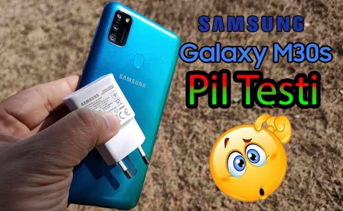 Samsung Galaxy M30s pil testi! – 6000 mAh mı?