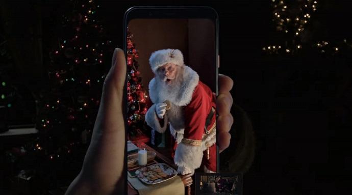 Google Noel Baba avına çıktı! Pixel 4 için yeni reklam