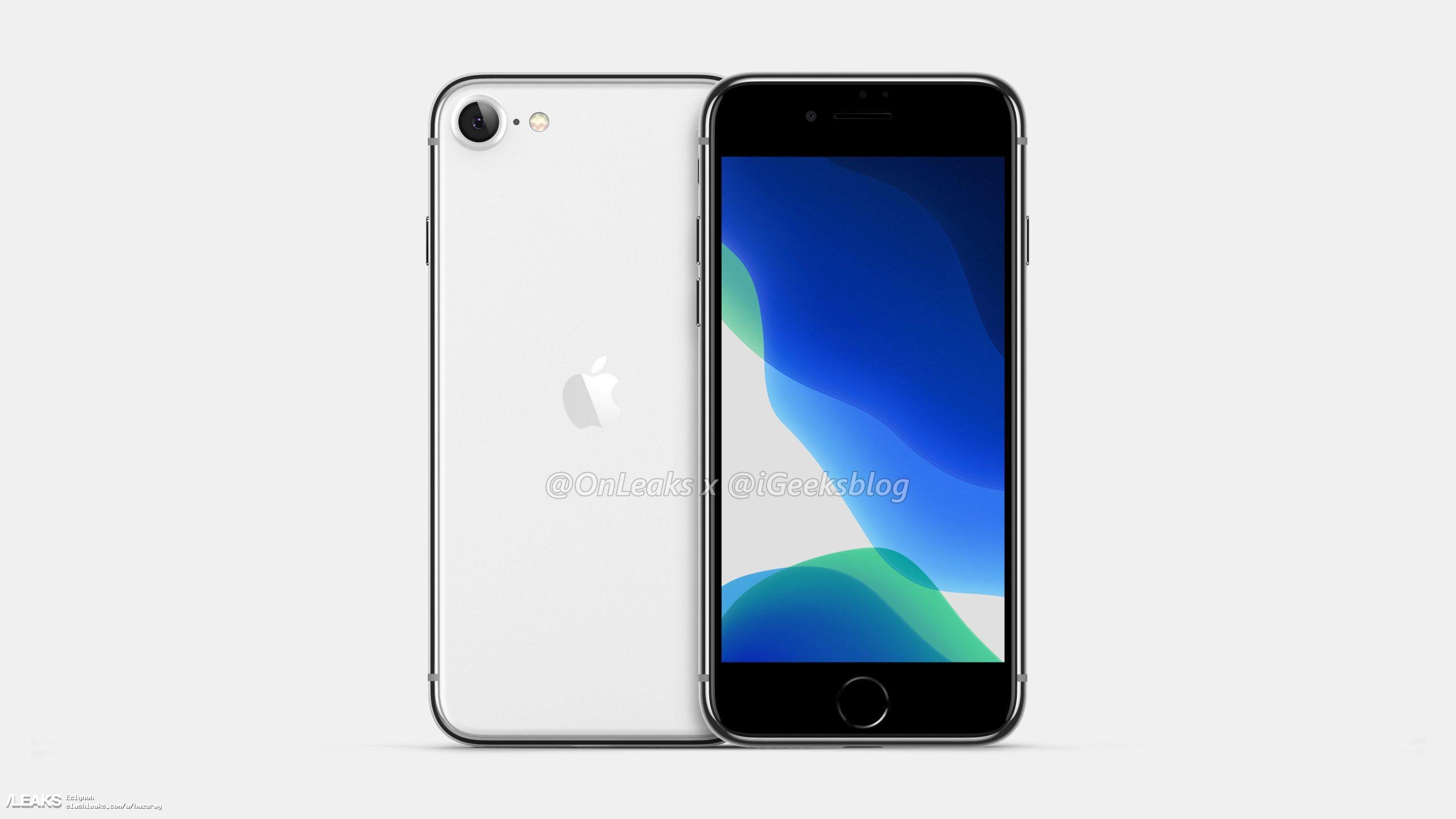 iPhone 8 görünümlü iPhone SE 2 render görselleri ile karşımızda