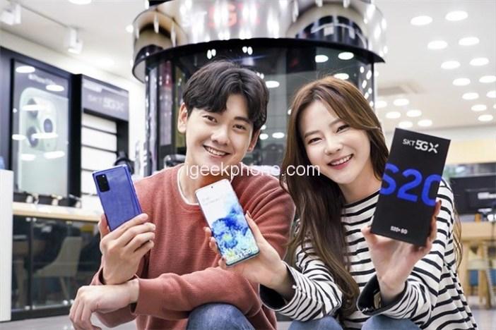 Galaxy S20 Plus yeni renk seçeneğiyle tekrardan karşınızda!!!