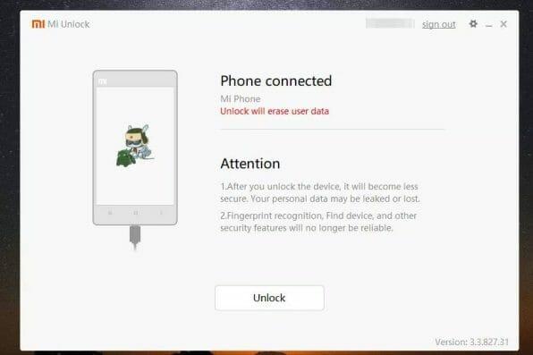 Xiaomi Bootloader kilidi