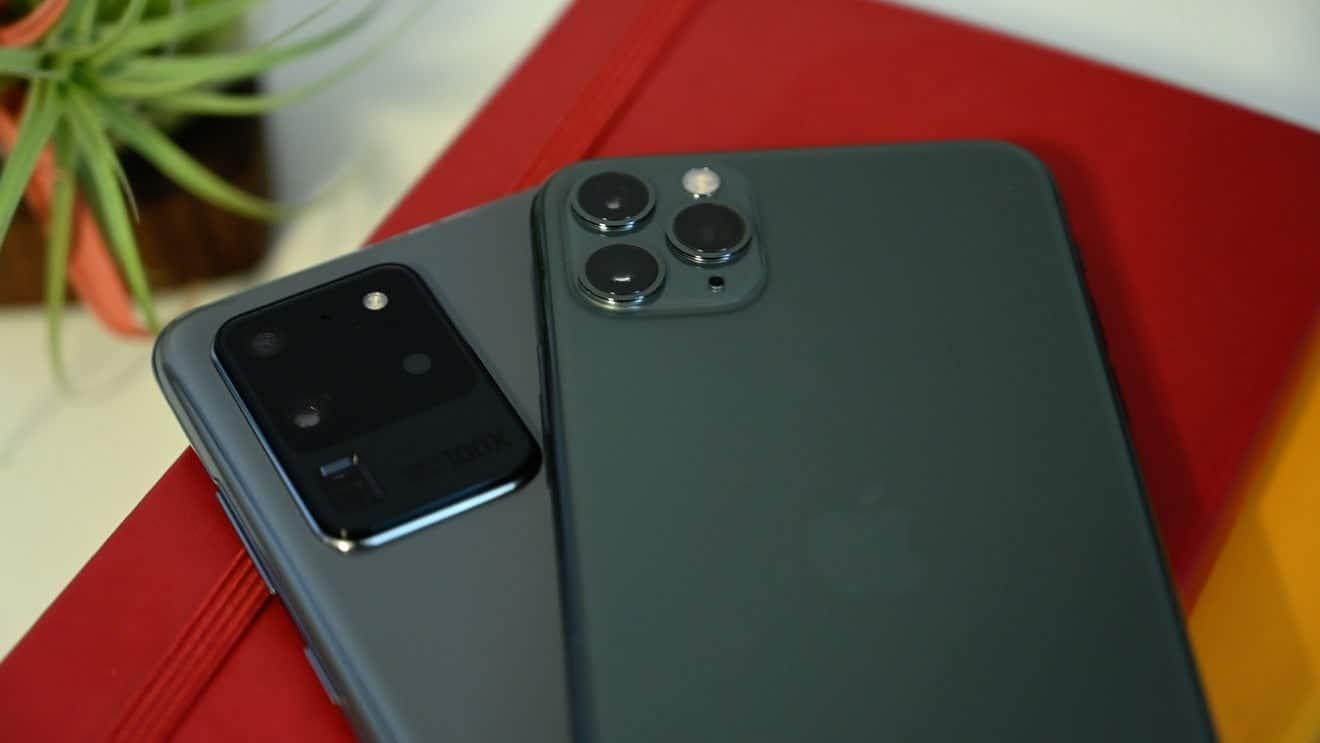 iPhone 11 Pro Max ve Galaxy S20 Ultra pil testi karşılaştırma